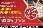 PASAR MALAM PANORAMA LAPANGAN PERDANA AKAN DIBUKA PADA 05HB OKTOBER 2019 INI!