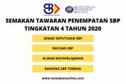 SEMAKAN TAWARAN PENEMPATAN SBP TINGKATAN 4 2020