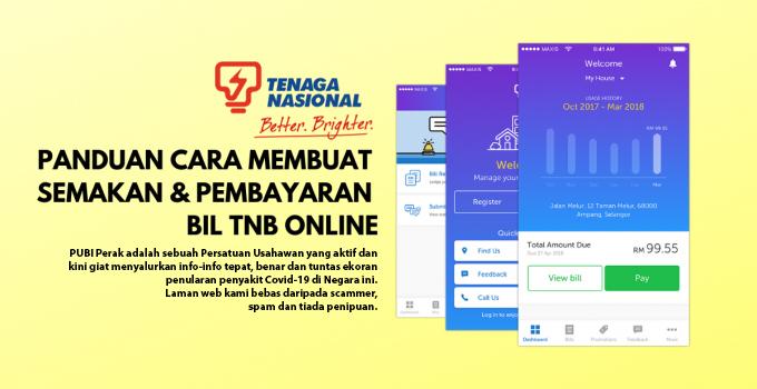 Panduan Cara Semak Bil Tnb Online Melalui Mytnb App Info