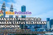 GERAN KHAS PRIHATIN 2.0: SEMAKAN STATUS KELAYAKAN PERMOHONAN