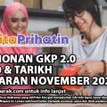 PERMOHONAN GKP 2.0 RM3,000 & TARIKH PEMBAYARAN NOVEMBER 2020