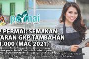 GKP PERMAI: SEMAKAN BAYARAN GKP TAMBAHAN RM1,000 (MAC 2021)