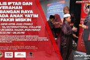 MAJLIS IFTAR DAN PENYERAHAN SUMBANGAN RAYA KEPADA ANAK YATIM DAN FAKIR MISKIN ANJURAN PUBI PERAK 2021