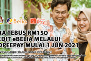 CARA TEBUS RM150 KREDIT eBELIA MELALUI SHOPEEPAY MULAI 1 JUN 2021