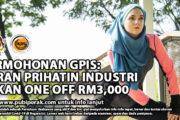 PERMOHONAN GPIS: GERAN PRIHATIN INDUSTRI SUKAN ONE OFF RM3,000
