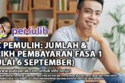 BKC PEMULIH: JUMLAH & TARIKH PEMBAYARAN FASA 1 (MULAI 6 SEPTEMBER)